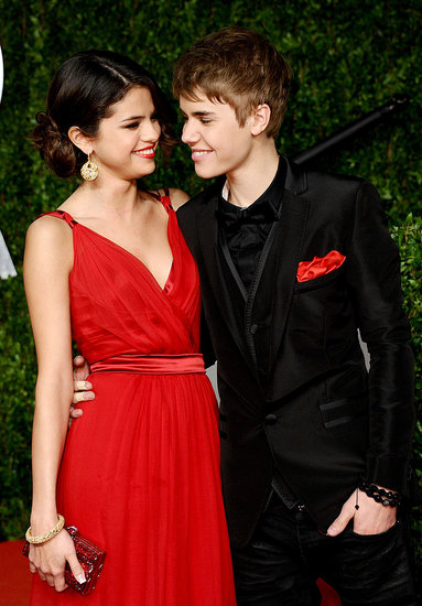 selena gomez justin bieber vanity fair oscar party. Pictures of Justin Bieber and